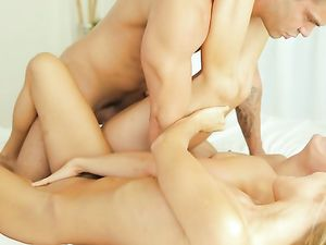 Beautiful Girls Suck And Fuck Big Dick Together