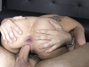 Dominant Big Dick Guy Fucks Her Asshole Hard