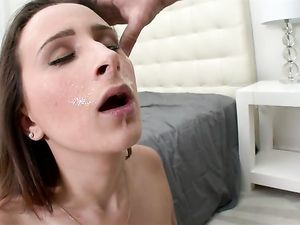 Gorgeous D Cup Titties On A Face Riding Cock Slut