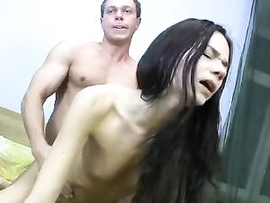 Pussy Eating Makes His Skinny Teen Lady Lusty For Dick