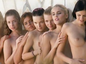 Teen Models With Perky Tits Pose Together