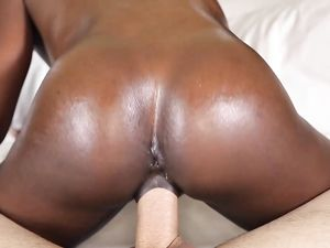 White Dick Disappears Into A Soaking Wet Black Pussy