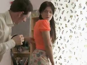 Flirt In A Miniskirt Pounded In Her Teenage Pussy