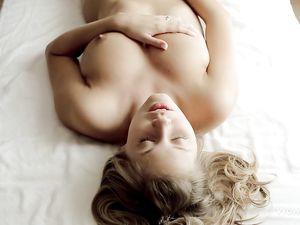 Masturbating Young Babe Has Gorgeous Big Natural Tits