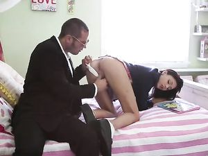 Ariana Marie Schoolgirl Sex Ends With A Big Cumshot