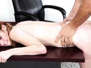 Teacher Dominates His Sexy Petite Brunette Student