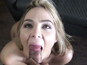 Soaked Cunt Cutie Sits Down On His Dick And Rides It