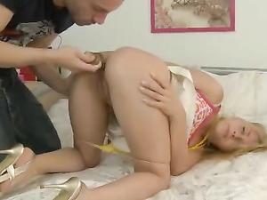 Teen With A Butt Plug Gets Her Ass Rammed Hard