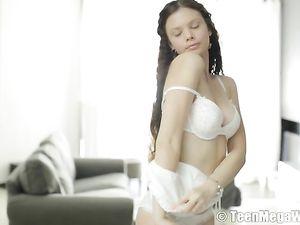 Masturbating 18 Year Old Has Big Perfect Titties