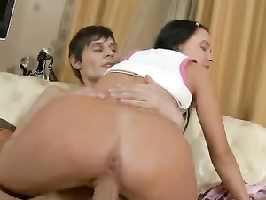 Russian Girl Shows Her Man How Much She Loves Big Cock