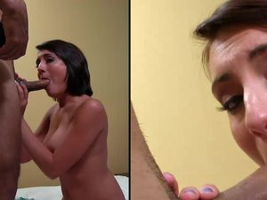 Facial For A Cock Loving Cutie On Her Back