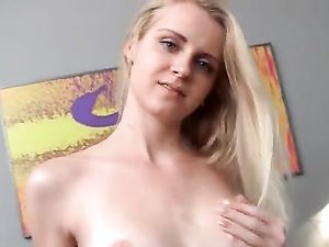 18 Year Old Striptease In Bed Ends In Sensual Masturbation