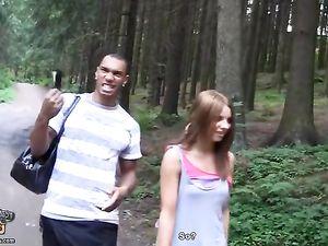 Friends In The Woods Share A Super Cute Slut