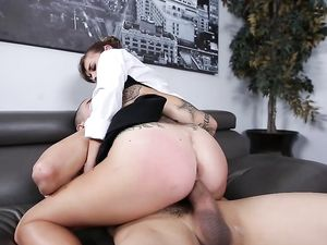 Office Fuck And Facial With His Young Assistant