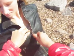 Bend The Leather Jacket Babe Over And Fuck Her